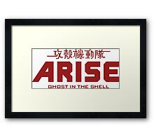 Ghost in the Shell Arise  Framed Print