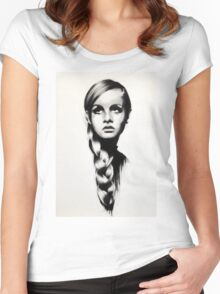 twiggy Women's Fitted Scoop T-Shirt