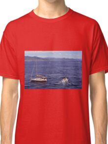 The blue sea with ships from Portofino Classic T-Shirt