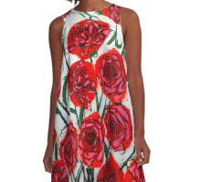 Stop and Smell the Roses A-Line Dress