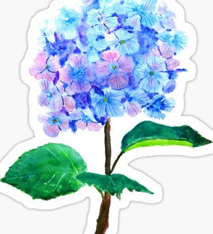 blue purple hydrangea Sticker