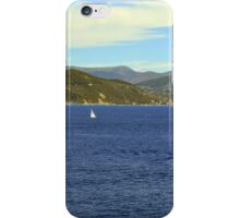 The blue sea and hills from Portofino. iPhone Case/Skin
