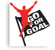 Go for goal Canvas Print