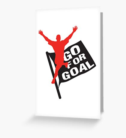 Go for goal Greeting Card