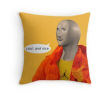 cool and nice (transparent version) Throw Pillow