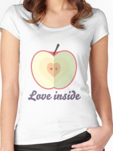 Love inside Women's Fitted Scoop T-Shirt