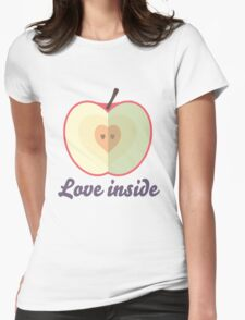 Love inside Womens Fitted T-Shirt