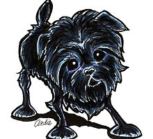 Affenpinscher at Play by offleashart