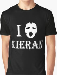 I love Kieran - White Graphic T-Shirt
