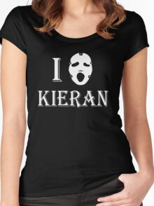 I love Kieran - White Women's Fitted Scoop T-Shirt