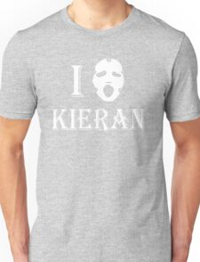 I love Kieran - White Unisex T-Shirt