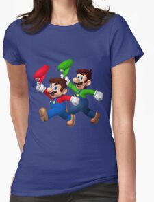 Mario and Luigi Womens Fitted T-Shirt