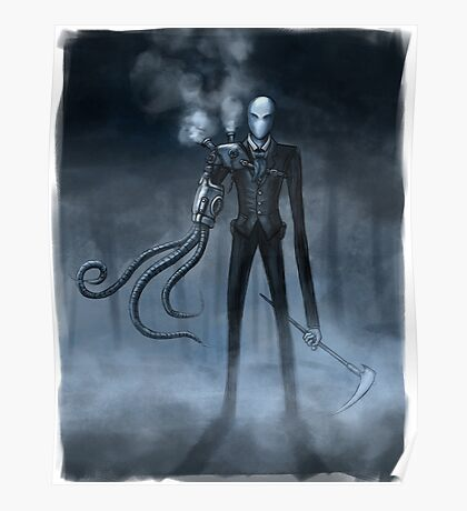 Steampunk Slender Man Poster
