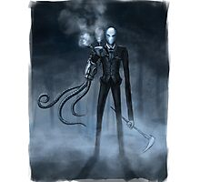 Steampunk Slender Man Photographic Print
