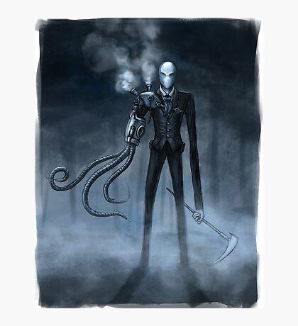 Steampunk Slender Man Photographic Print