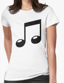 black music note Womens Fitted T-Shirt