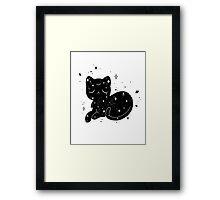 Sleeping Space Cat Framed Print