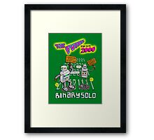 Flight of the Conchords - Binary Solo - Robots 2 Framed Print