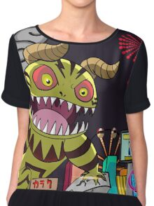 Monster in Paradise Chiffon Top