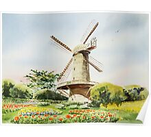 Dutch Windmill San Francisco Poster