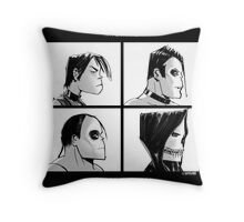 The Misfits in Gorillaz Style Throw Pillow
