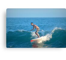 Paddle Boarding In Laguna Beach II Canvas Print
