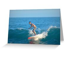 Paddle Boarding In Laguna Beach II Greeting Card