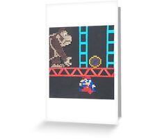 Donkey Kong & Jumpman (Paint 'N' Beads) Greeting Card