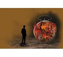 Watching Time Burn Photographic Print