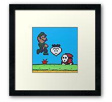 Luigi v Shy Guy (Paint 'N' Beads) Framed Print