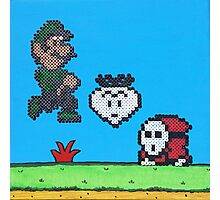 Luigi v Shy Guy (Paint 'N' Beads) Photographic Print