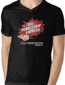 Pork Chop Express - Large Central Logo  Mens V-Neck T-Shirt