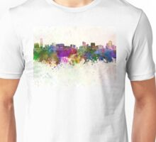 Grand Rapids skyline in watercolor background Unisex T-Shirt