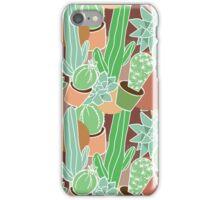 cactus succulent seamless pattern iPhone Case/Skin