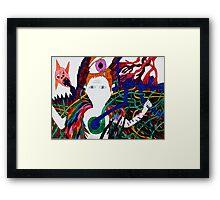 rainbow jungle Framed Print