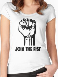 Join The Fist Women's Fitted Scoop T-Shirt
