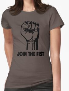 Join The Fist Womens Fitted T-Shirt