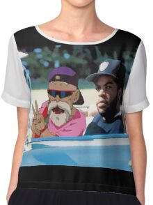 Ice Cube x Master Roshi Chiffon Top