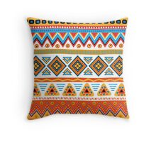 Geometric zigzag color Throw Pillow