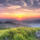 Sunset mountains in Hong Kong by kawing921