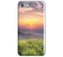 Sunset mountains in Hong Kong iPhone Case/Skin