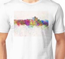 Tucson skyline in watercolor background Unisex T-Shirt