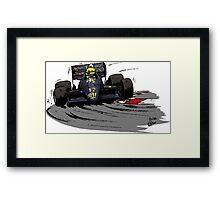 Ayrton SENNA_Lotus 98T Framed Print