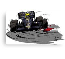Ayrton SENNA_Lotus 98T Canvas Print