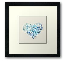 Heart of the shells. Framed Print