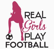 Real girls play football by nektarinchen