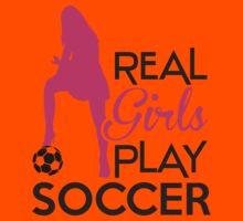 Real girls play soccer Kids Tee