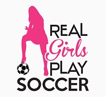 Real girls play soccer Womens Fitted T-Shirt