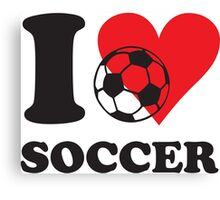 I love soccer Canvas Print
