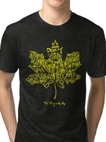 THE TRAGICALLY HIP - SUMMER TOUR 2016 - TYPOGRAPHY YELLOW Tri-blend T-Shirt